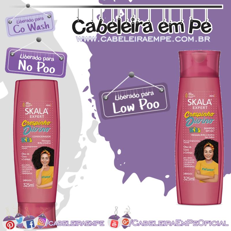 Shampoo (Low Poo) e Condicionador (No Poo e co wash) Crespinho Divino - Skala