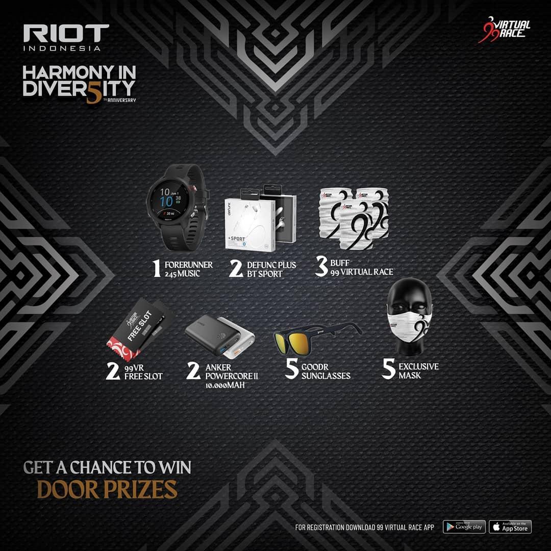 Doorprize � RIOT 5th Anniversary Virtual Run • 2021