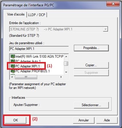 Dialog for defining PGPC interface