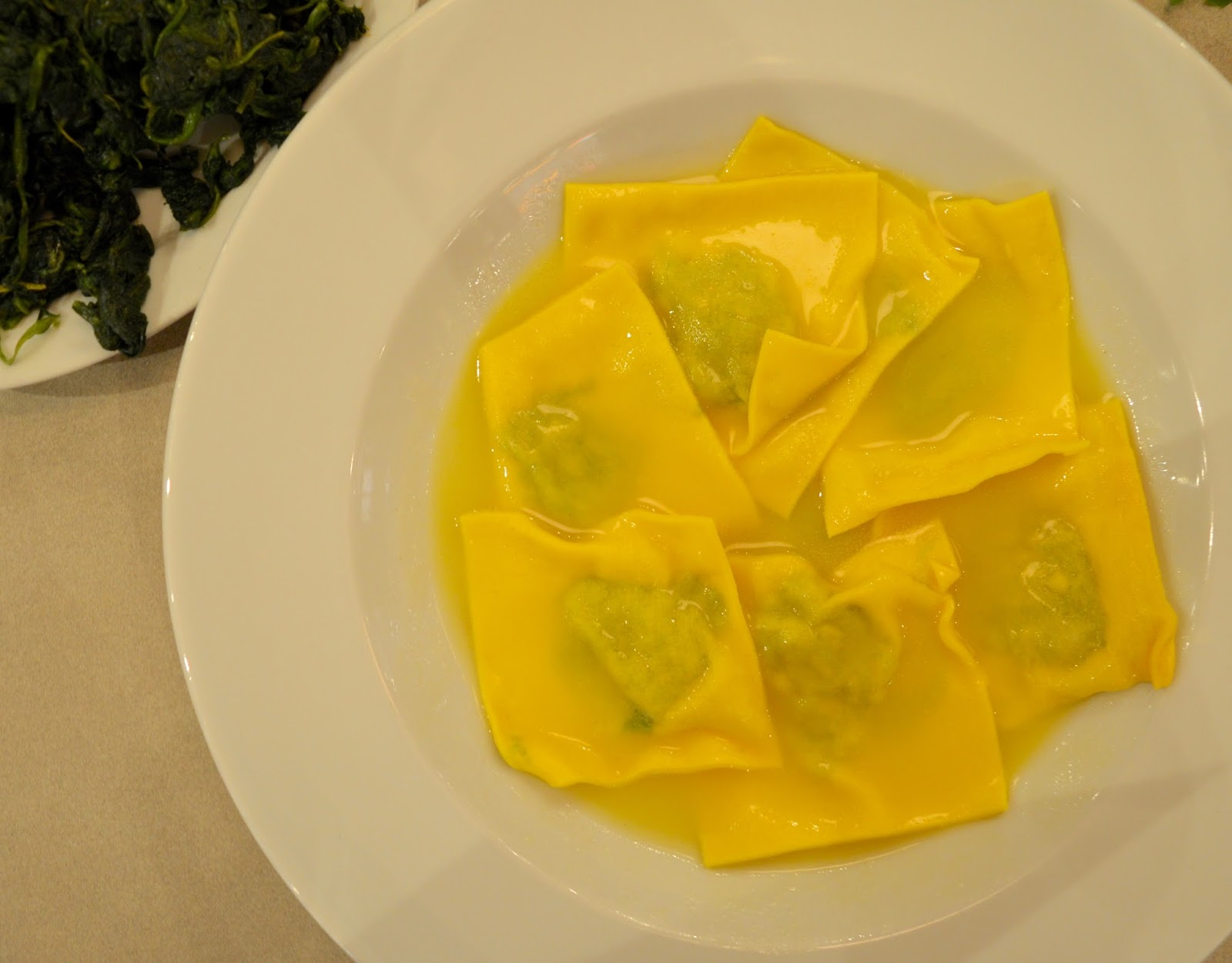 Carluccio's - intu Metrocentre | Children's Menu Review - lunch menu deal - handmade ravioli with spinach, ricotta and a sage and butter sauce