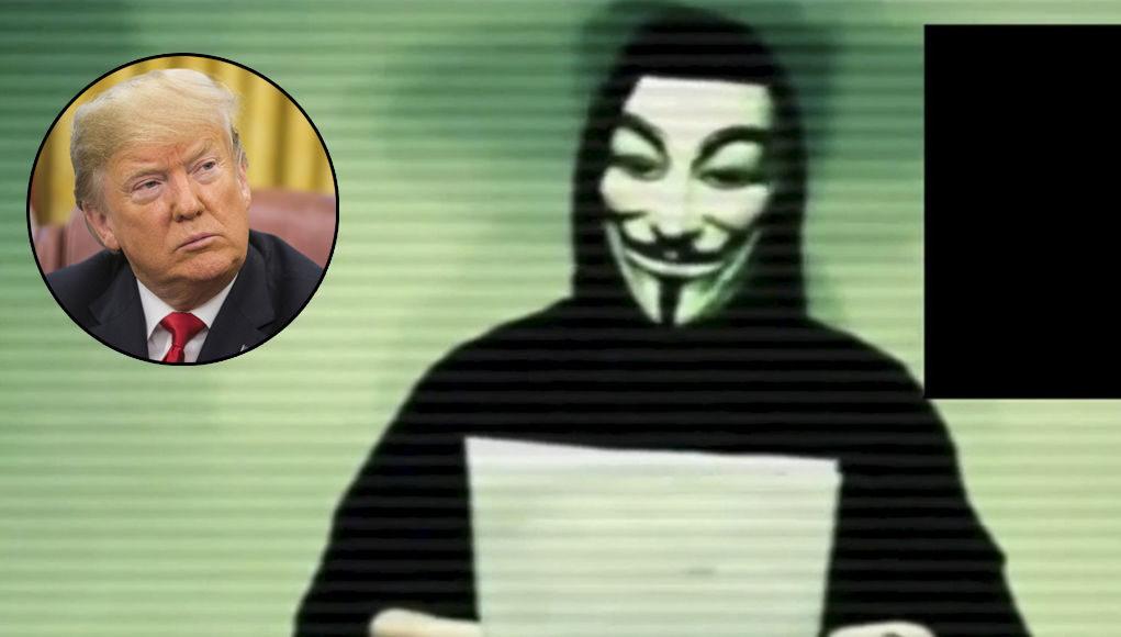 Anonymous vs Trump