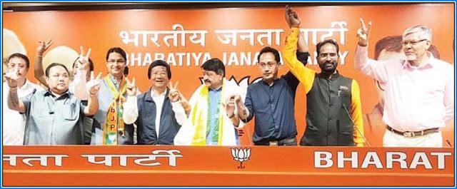 Raju Bista Neeraj Zimba Lopsang Lama Mann Ghisingh NB Chhetri in BJP mmeting