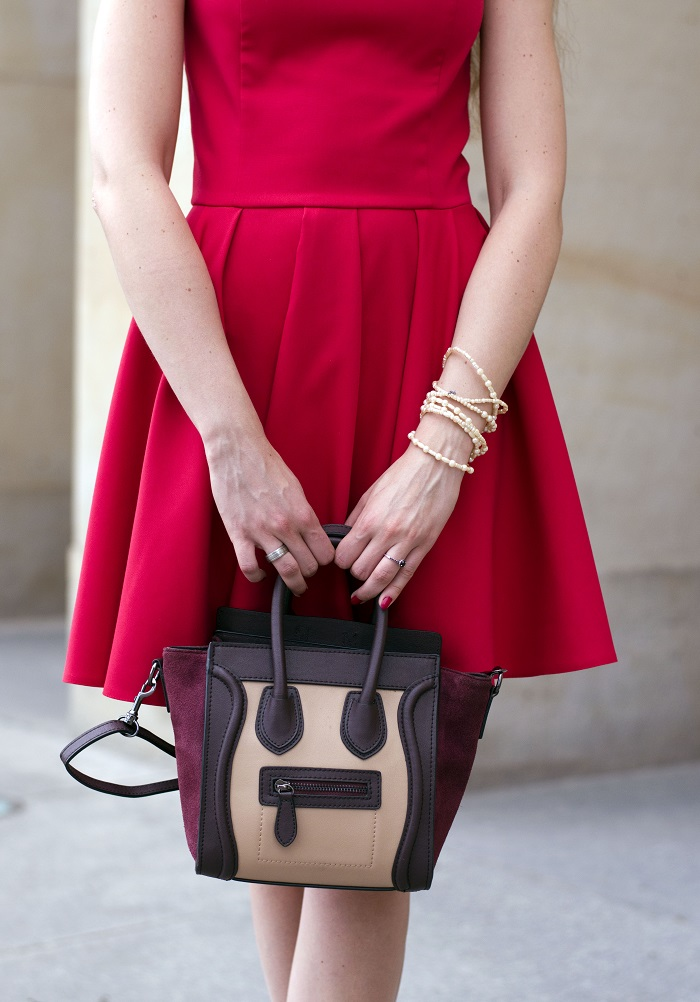 Perfect red dress for wedding guest