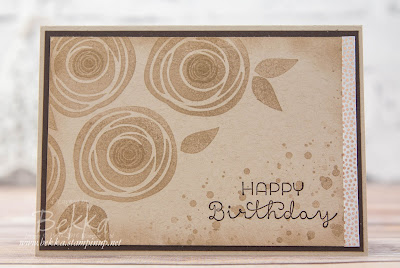 Make in a Moment - Swirly Bird Floral Birthday Card in Crumb Cake - made using Stampin' Up! UK Supplies which you can buy here