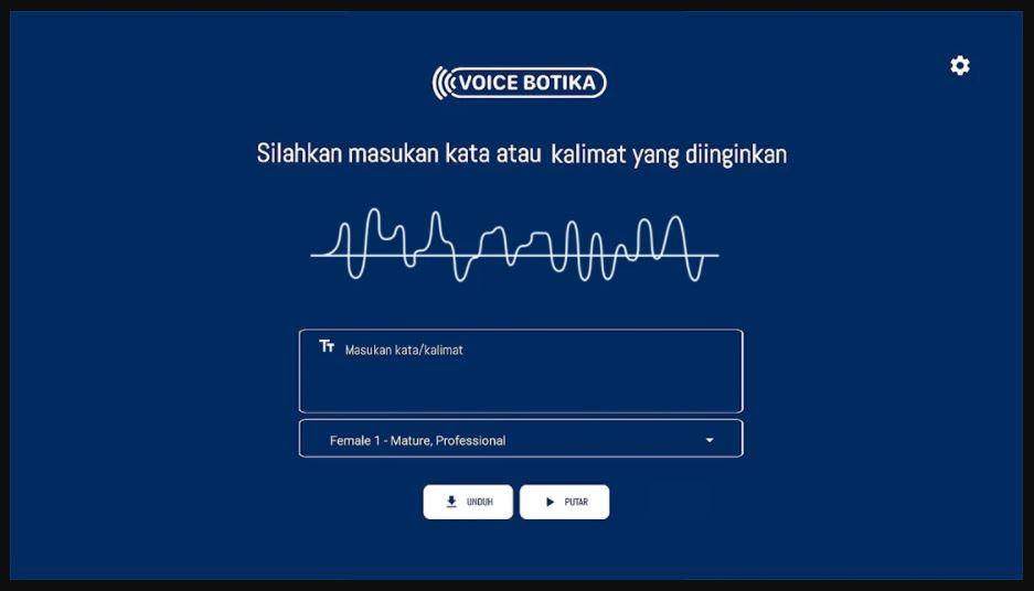 buat suara dengan aplikasi voicebotika