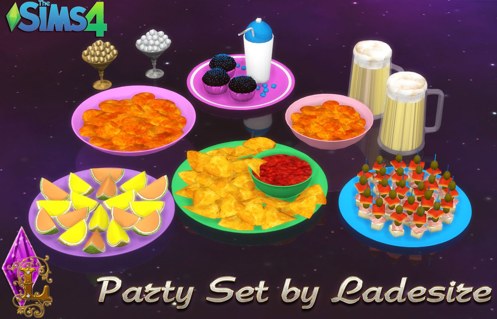 My Sims 4 Blog Party Clutter Set By Ladesire