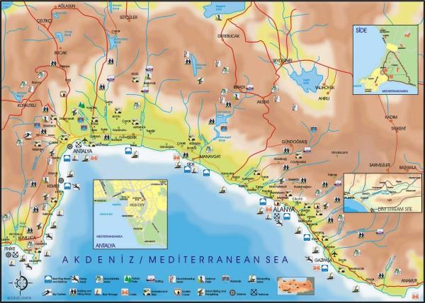 PATARA ANTALYA MAP
