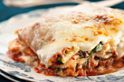 Five-Veggie Four-Cheese Lasagna