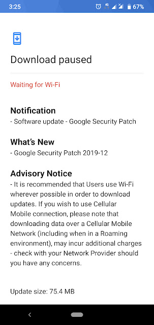 Nokia 2.2 receiving December 2019 Android Security update