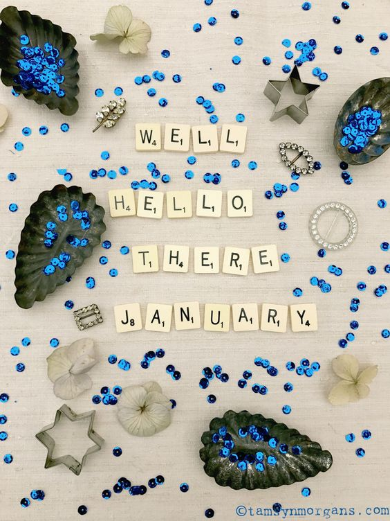 say hello to january - new year 2018