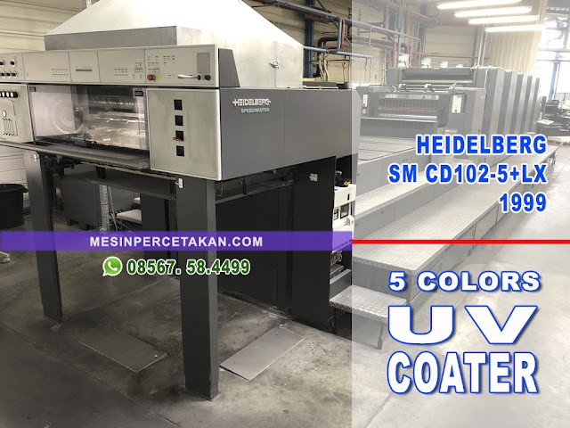 Heidelberg SM CD102 5-LX2 COATER
