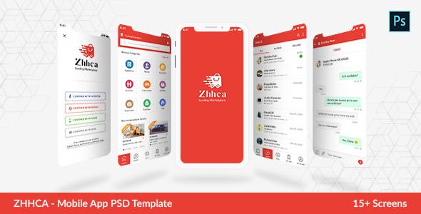 Online Marketplace Mobile App PSD Template