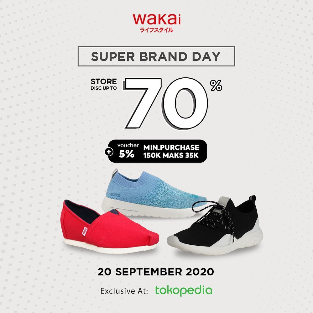 WAKAI Promo Super Brand Day Store Discount Up To 70% + Voucher 5%