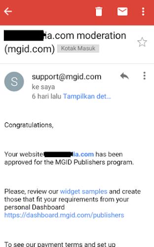 Cara cepat blog diapprove MGID tanpa menggunakan jasa