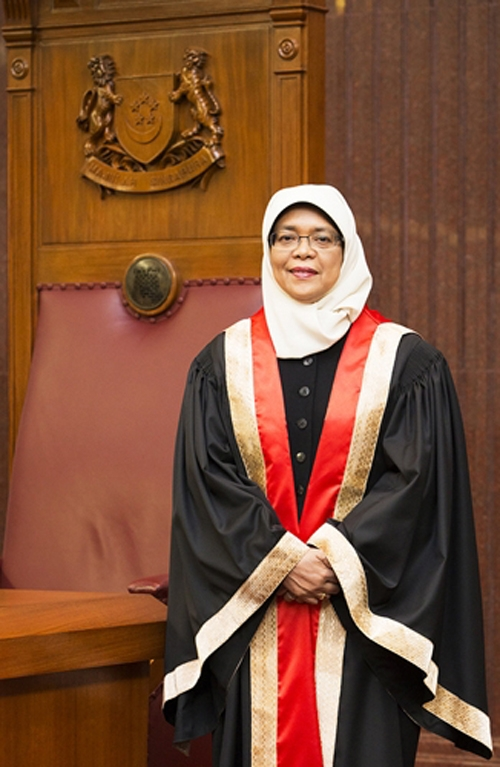 Madam Halimah meets the public sector service requirement of holding office for a period of three or more years as Speaker of Parliament.