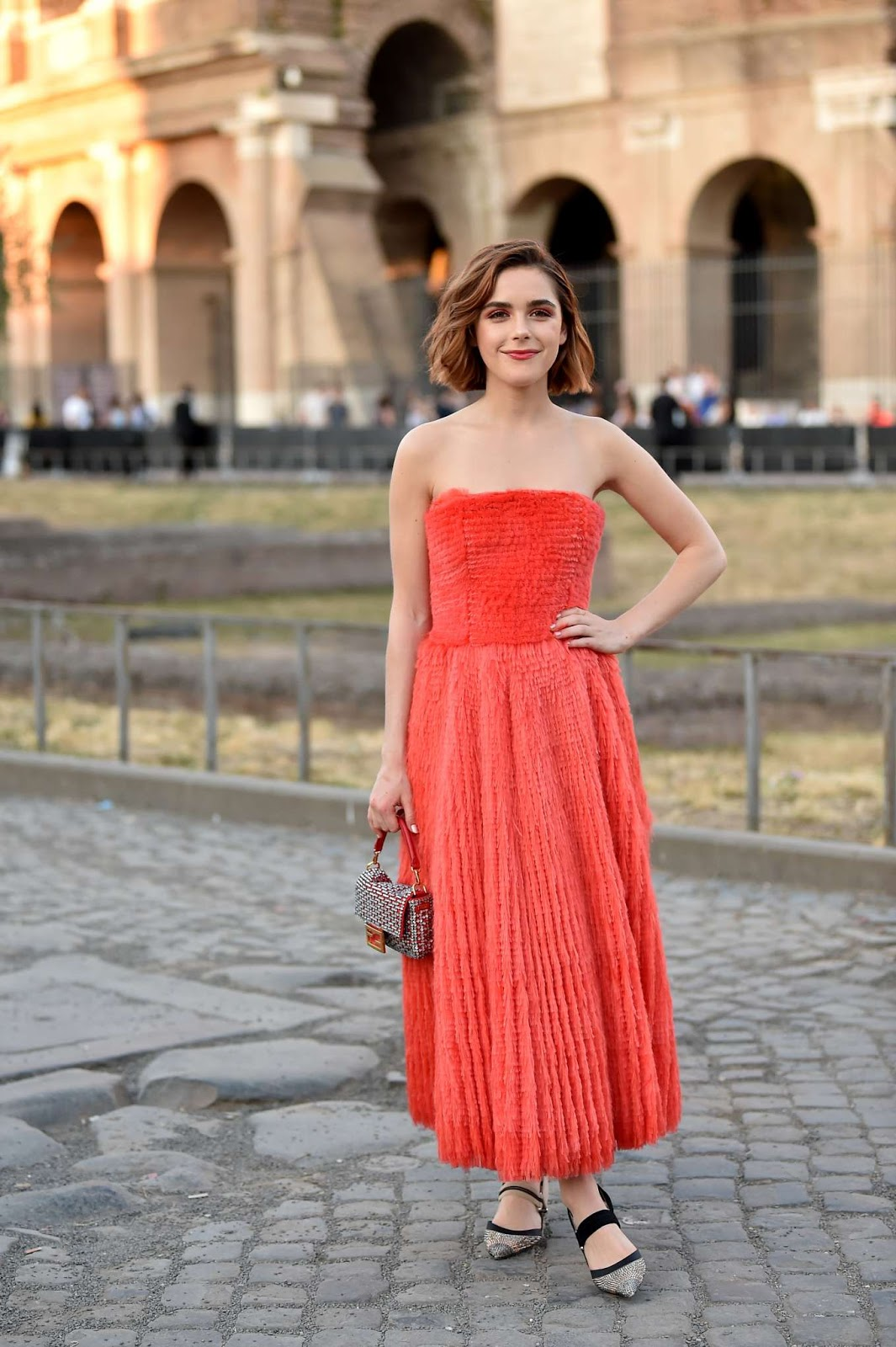 Kiernan Shipka – Cocktail and Fendi Couture Fall Winter 2019-2020 in Rome