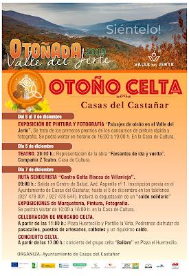 Otoño Celta. Del 6 al 9 de diciembre en Casas del Castañar