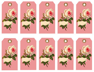 collage sheet gift tags digital design