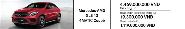 Giá xe Mercedes AMG GLE 43 4MATIC Coupe 2018 tại Mercedes Trường Chinh