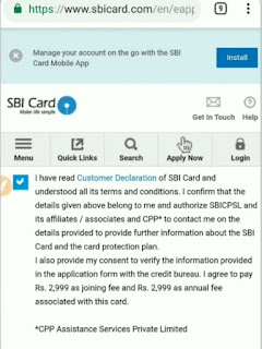 apply for SBI credit card online instant approval website