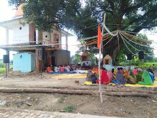 महाकाली मंदिर कुशहा में लोगों ने किया पूजन अर्चन | #NayaSaveraNetwork