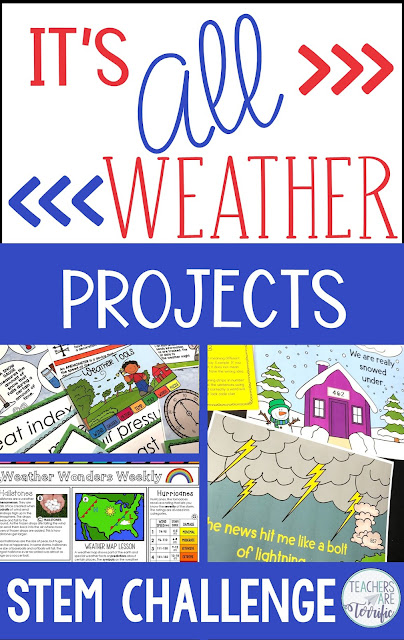 It's all about weather- check this post for resources and tips for the study of weather in your elementary classroom! #teachersareterrific #weather #elementary