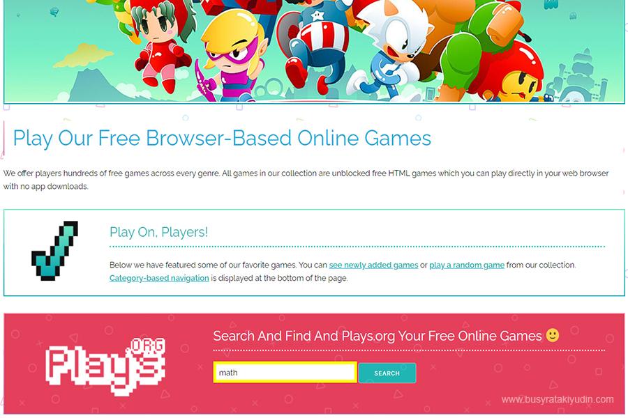 main game percuma di plays org, best main game free, game online,
