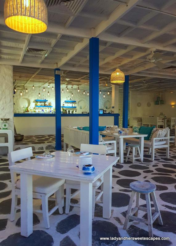 interior of Fish restaurant Dubai