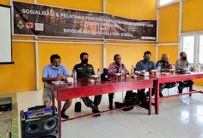 Perusahaan Sawit Kencana Group Fasilitasi Tiga Elemen di Dua Kecamatan di Ujung Negeri Komitmen Cegah Karhutla