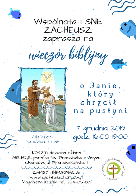 WIECZÓR BIBLIJNY dla dzieci | 7 grudnia 2019 w Chorzowie
