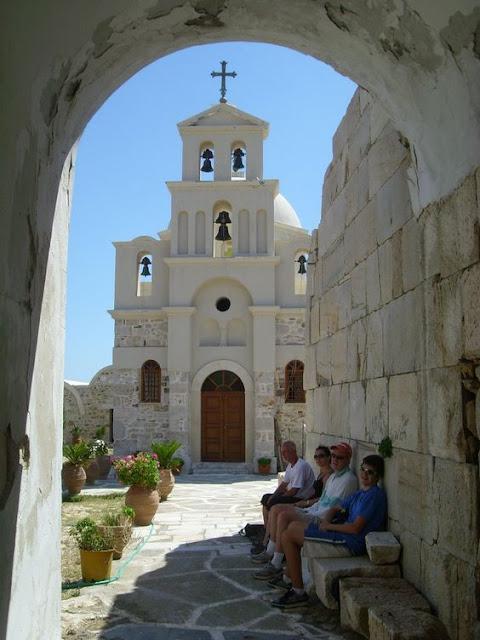 The island of Anafi Cyclades Greece