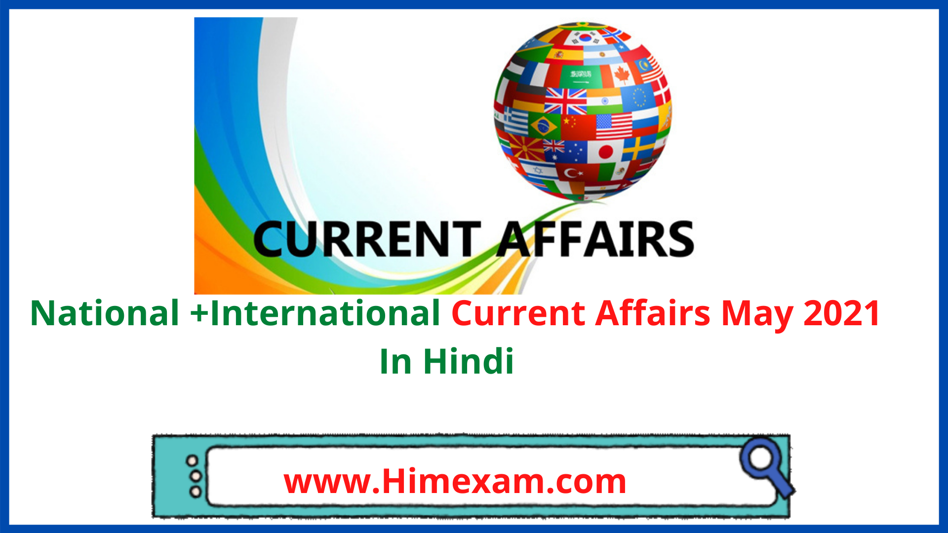 National +International Current Affairs May 2021 In Hindi