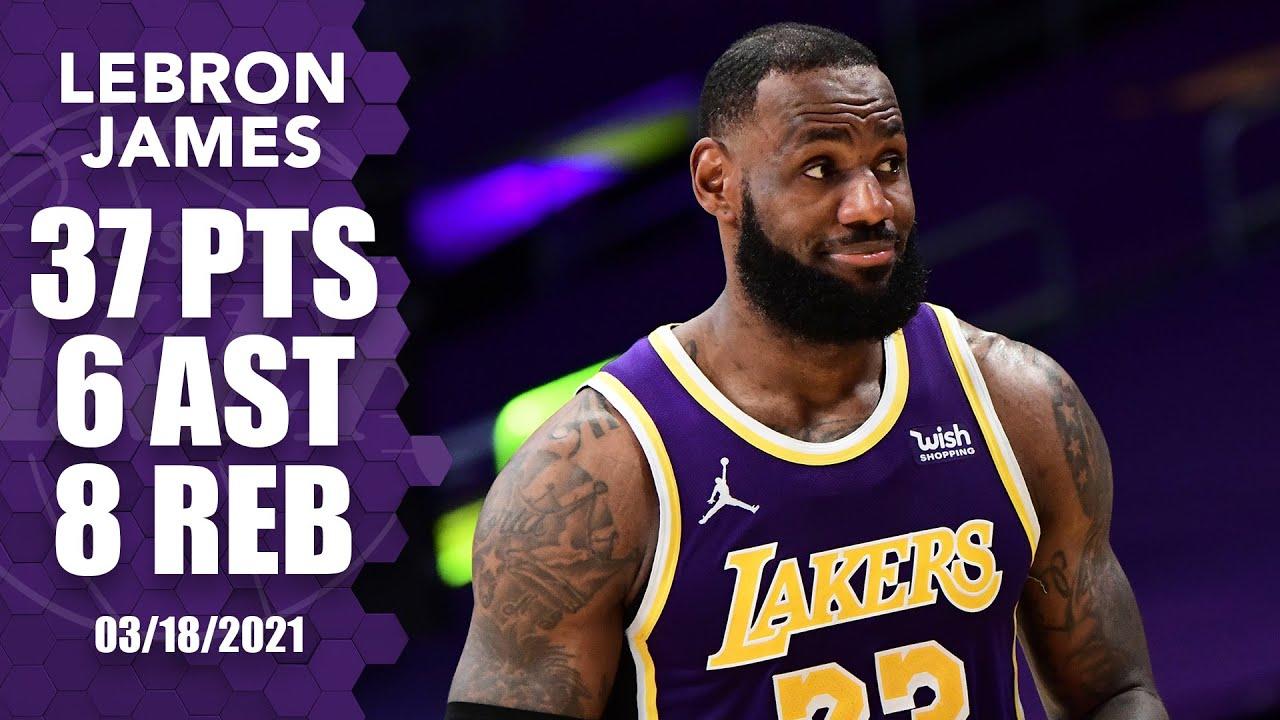 LeBron James 37pts 6reb 8ast vs CHO | March 18, 2021 | 2020-21 NBA Season