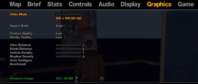 GTA 4 graphic setting