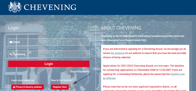 step to apply for chevening scholarship