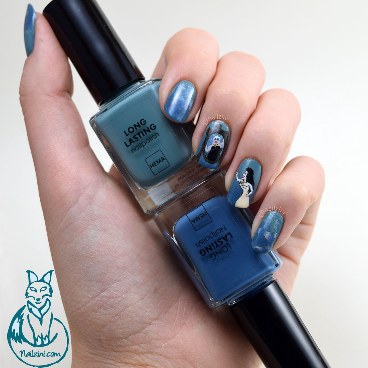 Sea Witch Ursula Nail Art Nailzini