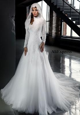 Vestido de novia en muselina