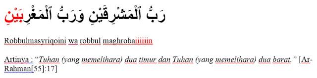 Contoh Bacaan Mad Layyin dalam Surat Ar-Rahman