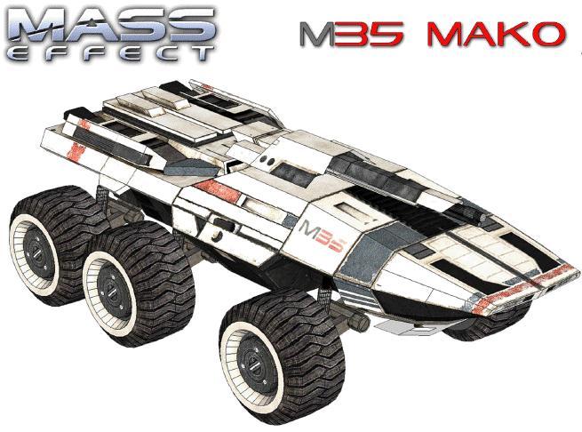 Mass Effect 3 Vehicles: Mass Effect M35 Mako Papercraft