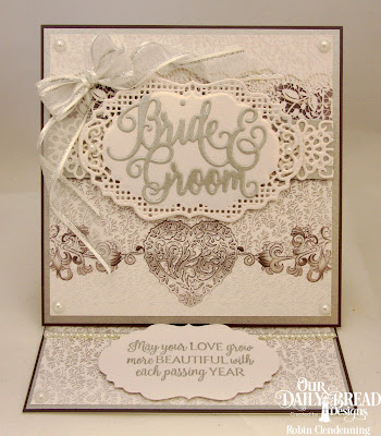 Our Daily Bread Designs Paper Collection: Wedding Wishes, Stamp Set: Happily Ever After, Custom Dies: Bride & Groom, Vintage Labels, Vintage Borders, Flower Lattice