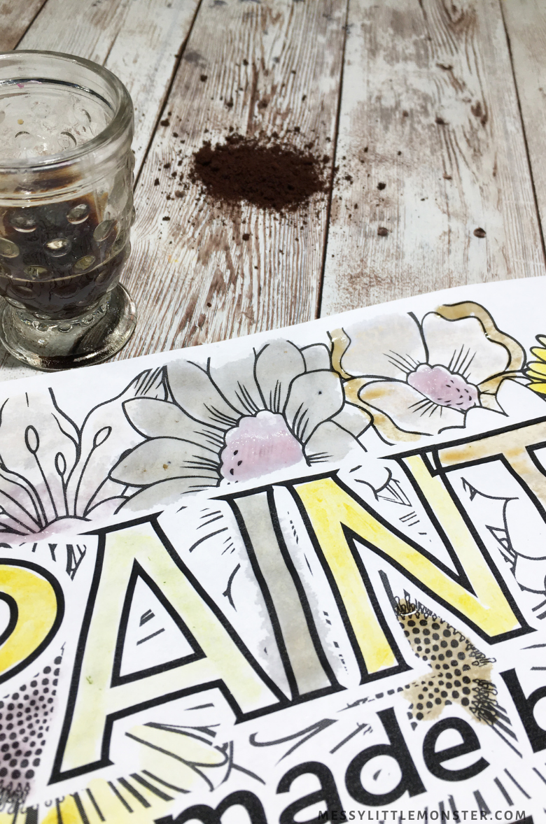 nature paint made with coffee