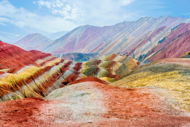 Rochas Coloridas Zhangye Dankxia, China