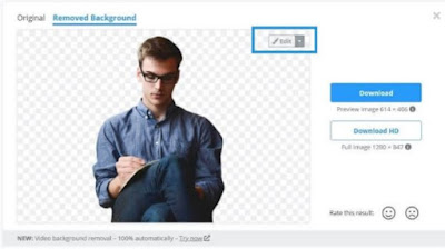 cara ubah background foto online