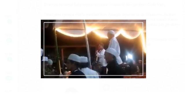 haddad alwi dan sulit dipaksa turun saat shalawatan di sukabumi