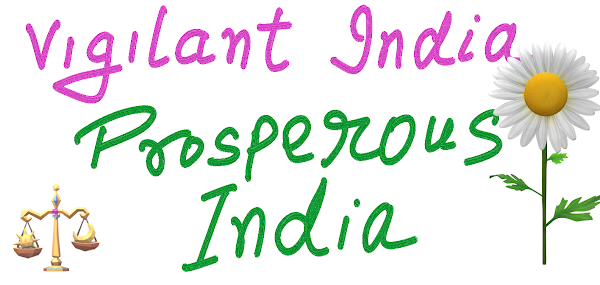 vigilant india in words image with flower