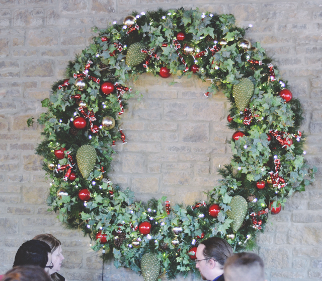 Huge Christmas wreath