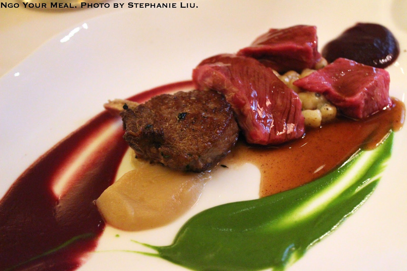 Organic Colorado Lamb: Tuscan olives, cured lemons at Bouley