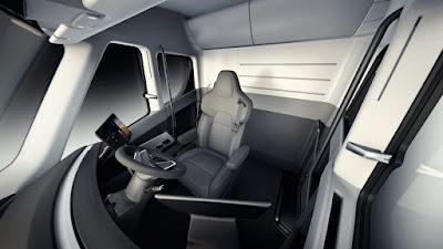 Tesla Semi Truck Interior - Cabin view