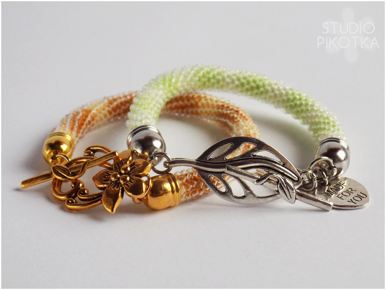 bransoletki, crochet rope, ukośnik, handmade, rękodzieło, biżuteria, toho, koraliki toho, toho round,