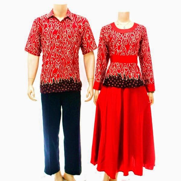 Baju-Batik-Pasangan-Muslim-Gamis